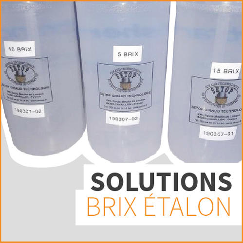 Solutions brix étalon